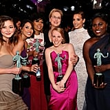 The cast of Orange Is the New Black won and earned a photo op with Meryl.