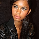 """For cheeks, Shobrook applied Gel Lip Colour in Hibiscus Bloom ($22), along with bronzer to sculpt. The entire look was finished with a tangerine lipstick. """"We made the lip matte with powder so that it's a pop of color but not overtaking the eye and the skin texture,"""" she explained."""