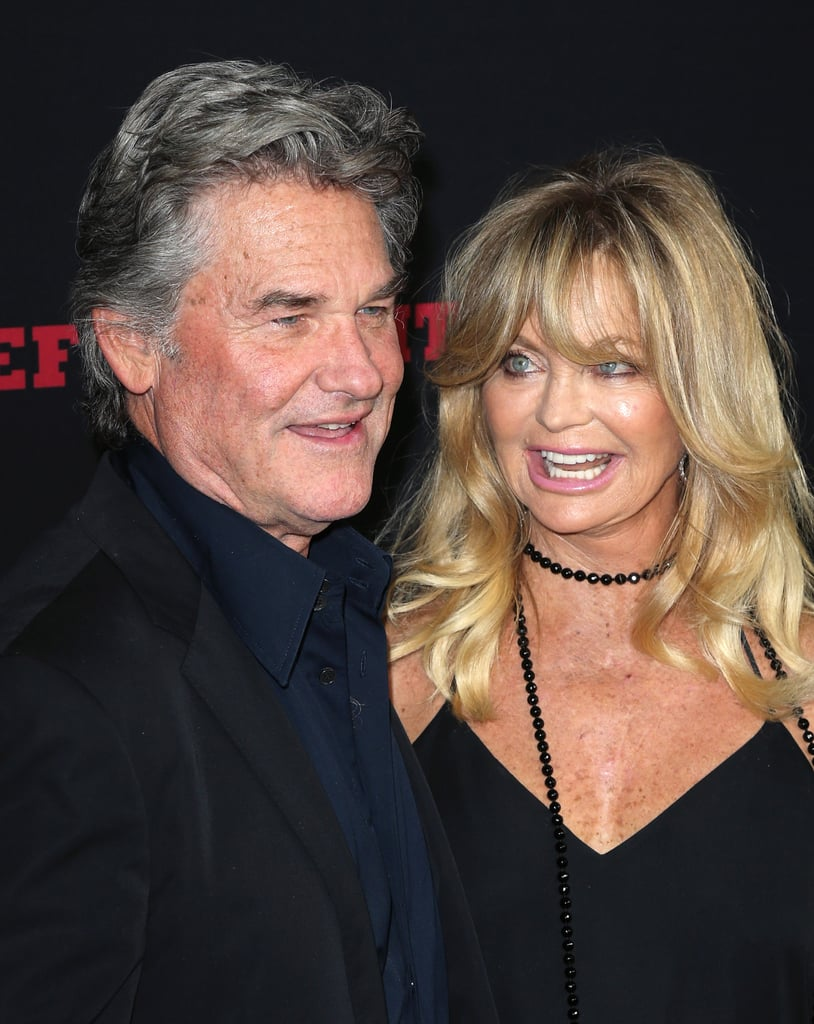 Kurt Russell and Goldie Hawn on Hateful Eight Red Carpet