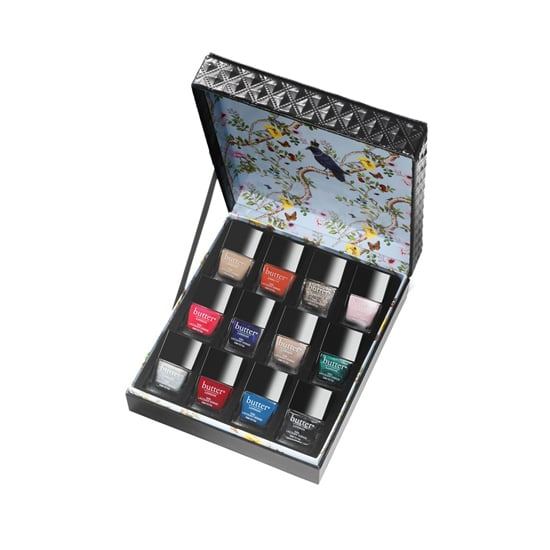 The Butter London Limited Edition Luxe Rock Nail Set ($65) comes with 12 fashionable shades ranging from nudes to metallics and brights. It also comes with the brand's top and base coats, so she can start polishing her nails as soon as she unwraps it.
