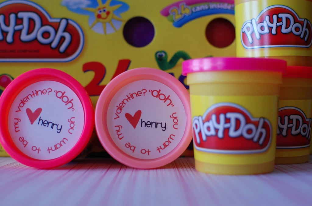 play-doh valentine | diy noncandy printable valentine's day cards, Ideas