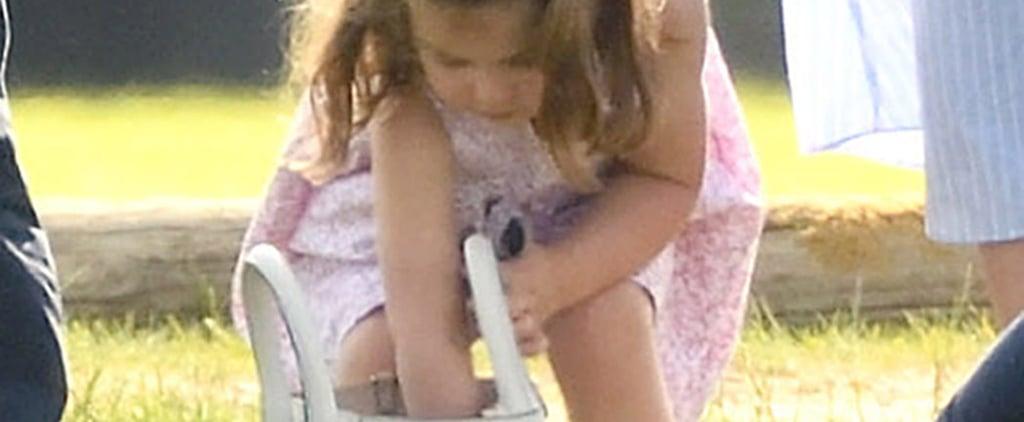 Princess Charlotte Going Through Kate Middleton's Bag