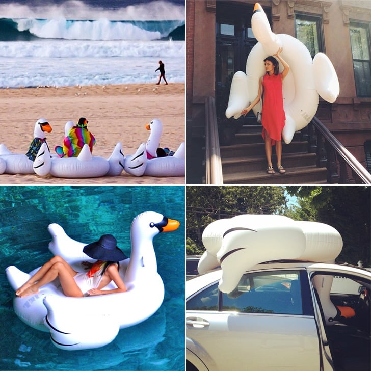 Why The Giant Inflatable Swan Is The Most Stylish Pool
