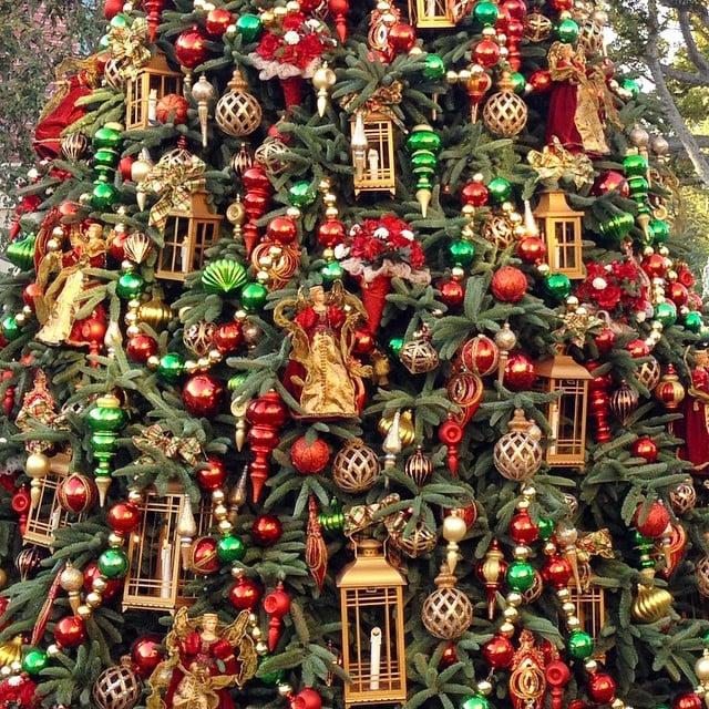the christmas trees have the most elaborate ornaments youll ever