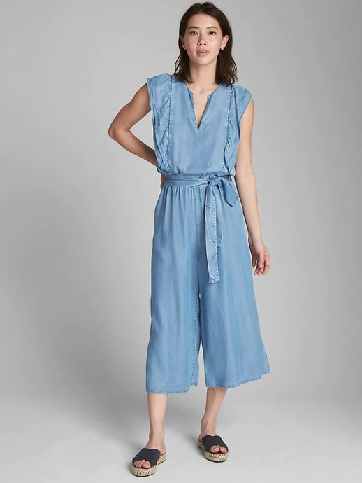 cb04a229159 Gap Ruffle Sleeve Jumpsuit in Tencel
