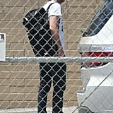 Robert Pattinson visited a studio in LA on Tuesday.