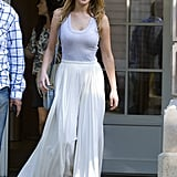 Jennifer Lawrence sported shades in Paris.