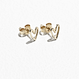 Gold-Plated Silver Heart Studs – & Other Stories (AED99)