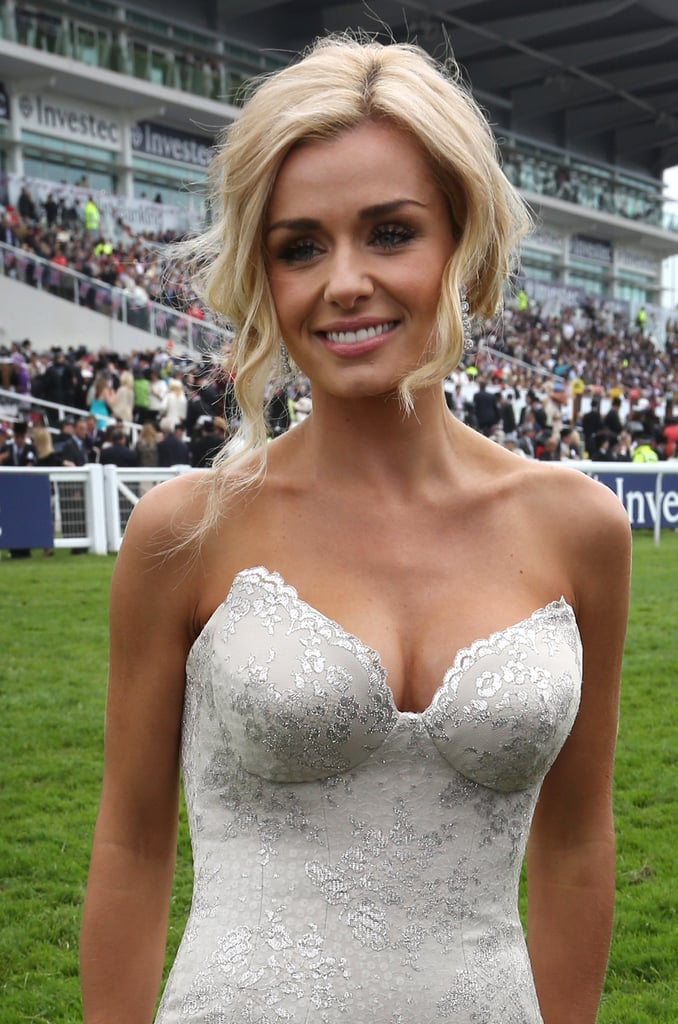 Katherine Jenkins stood on the racecourse to sing the national anthem.