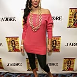 Kim Kardashian was dressed up in '80s grab for a friend's themed birthday party in LA in April 2007.
