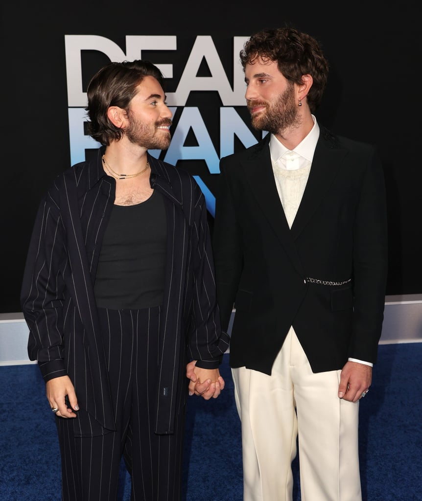Ben Platt and Noah Galvin went back to their Dear Evan Hansen roots for the LA premiere of the film. On Wednesday night, the couple was all smiles as they walked hand in hand on the blue carpet. The outing marked one of their first public appearances as a couple after previously walking the red carpet together for Bette Midler's Hulaween party in 2019. Given both of their ties to Dear Evan Hansen, their recent outing at the premiere is extra sweet; Ben famously originated the role of Evan Hansen on Broadway in 2016, while Noah took over the role in 2017. After years of friendship, the two eventually went public with their romance in May 2020 and have been giving us cute glimpse of their relationship ever since. See more pictures of their latest outing ahead before the film hits theatres on Sept. 24.       Related:                                                                                                           15 Pictures That Prove Ben Platt and Noah Galvin Should Be Your Favourite Couple