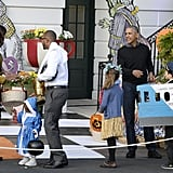 Michelle Obama and President Barack Obama Hosted a Trick-or-Treating Event at the White House