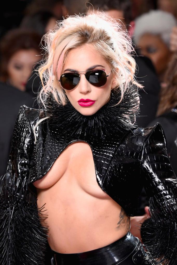 Lady Gaga With Pink Hair | Grammys 2017