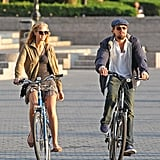 Leonard DiCaprio and then-girlfriend Erin Heatherton went on a bike tour of NYC in June 2012.