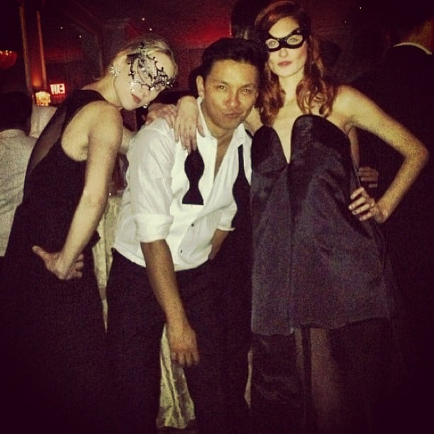 Prabal Gurung and Taylor Tomasi Hill partied masquerade-style. Source: Instagram user ttomasihill