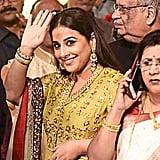 Bollywood Actress Vidya Balan Wore a Yellow Outfit