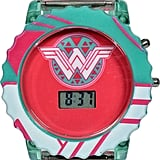 DC Comics Wonder Woman LCD Rotating Flash Dial Strap Watch
