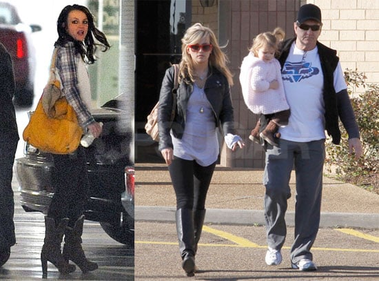 Photos of Britney Spears in LA and Jamie Lynn Spears With Maddie and Her Father Jamie in Lousiana