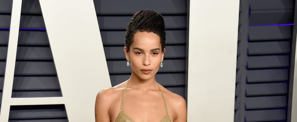 Zoe Kravtiz Gold Bra at Oscars Afterparty 2019