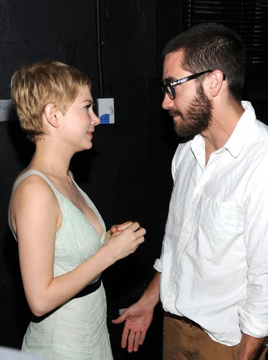 Jake Gyllenhaal chatted with Michelle Williams.