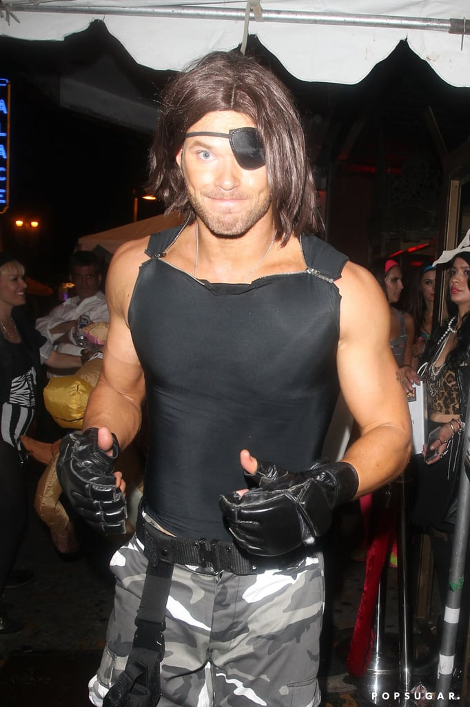Kellan Lutz attended the Treats Magazine Halloween party dressed as Kurt Russell's Snake Plissken in Escape From New York in 2014.