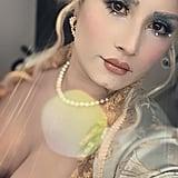Demi Lovato Marie Antoinette Halloween Makeup 2019