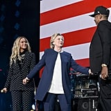 Beyonce's Polka-Dot Suit at Get Out the Vote Concert 2016