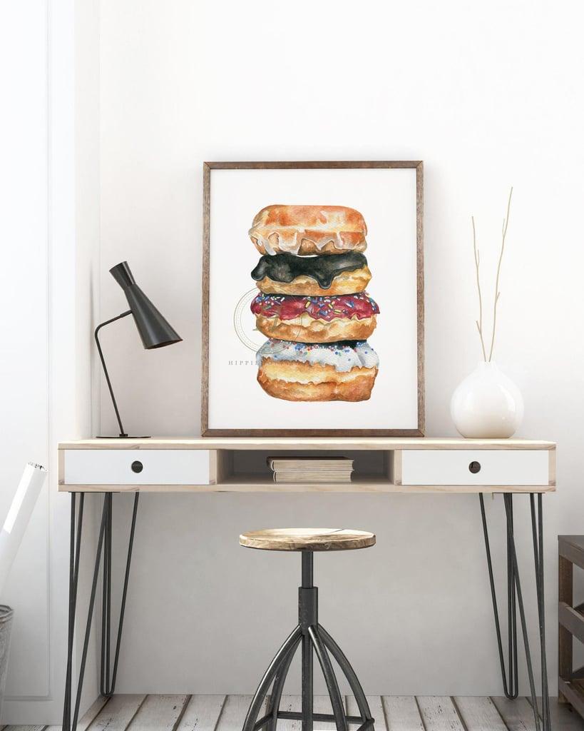 Donut Watercolor Print