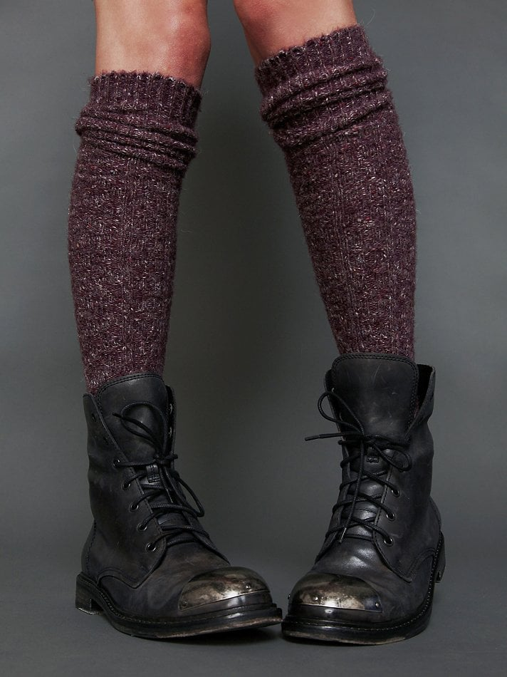 When the chill is at its full potential, you'll be wanting a pair of these Free People tall socks ($20), which happen to be heather, ribbed, and high enough to wear with your favorite wintry boots.