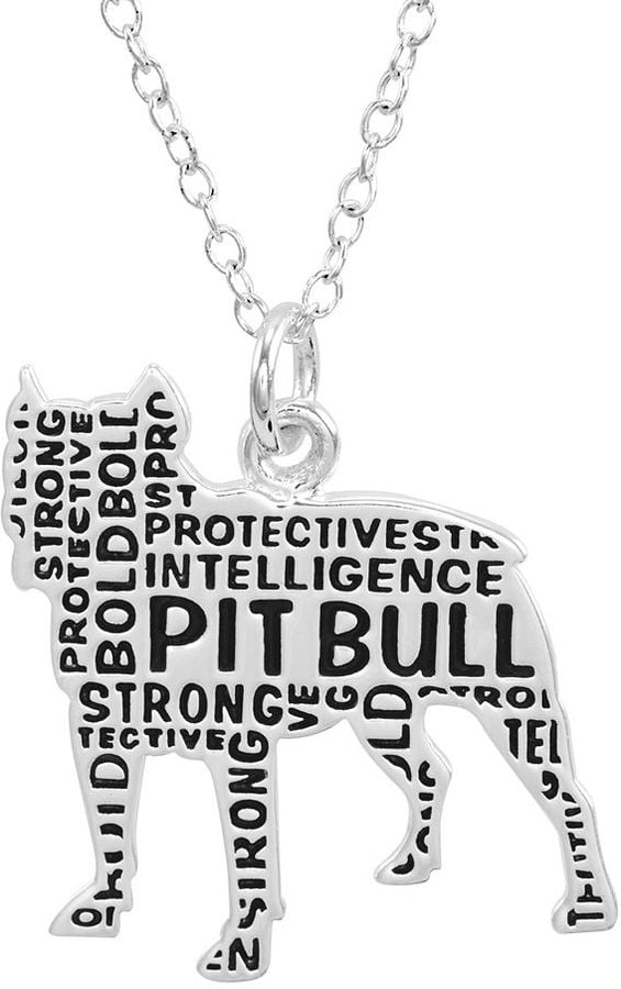 Silver plated pit bull pendant necklace 50 gifts for pit bull silver plated pit bull pendant necklace 50 aloadofball Choice Image
