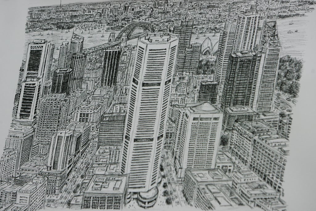 A detail of Stephen's Sydney drawing.