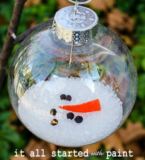 Melted snowman ornament diy christmas ornaments popsugar smart melted snowman ornament solutioingenieria