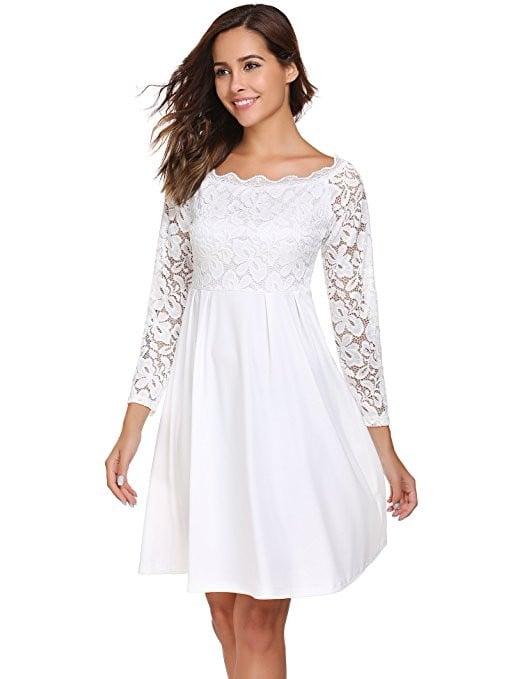 Bridal dresses on amazon popsugar fashion for Amazon cheap wedding dresses