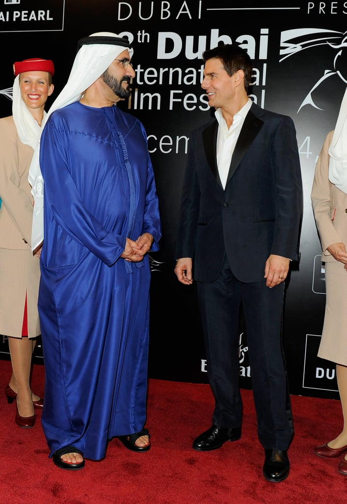 Tom Cruise chatted with fans at the 2011 Dubai Film Festival.