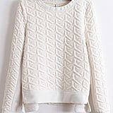 SheInside Textured Sweatshirt