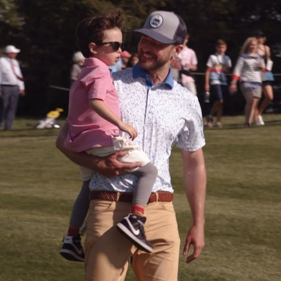 Justin Timberlake With Son Silas at PGA Golf Tour 2019