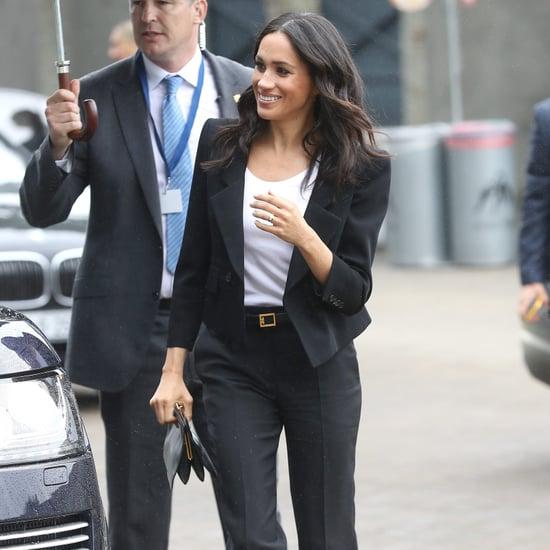 Meghan Markle's Black Trouser Suit Ireland 2018