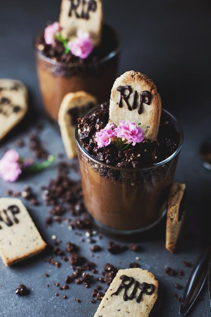 Graveyard Chocolate Mousse Pots