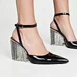 Area Crystal Fringe High Heels