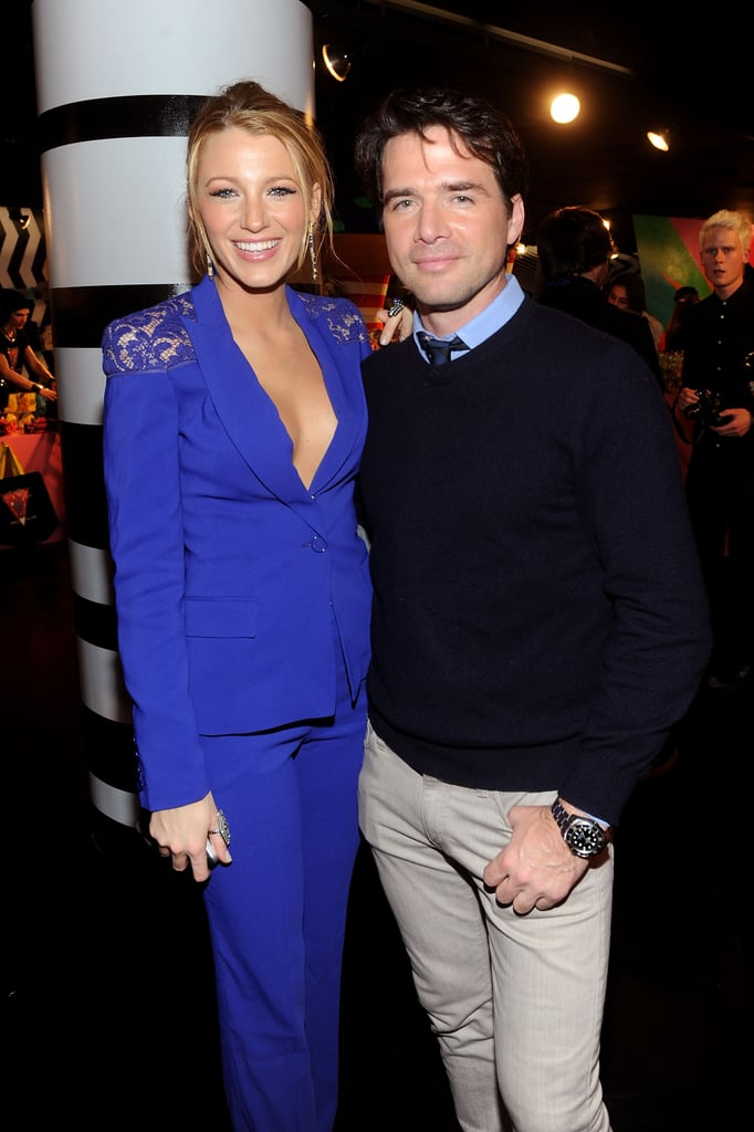 Gossip Girl costars Blake Lively and Matthew Settle put their arms around each other at Barneys.