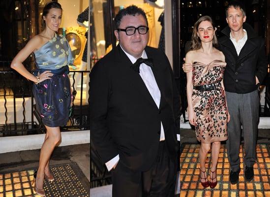 Alber Elbaz Parties at Lanvin Opening in London
