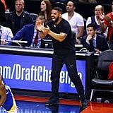Photos of Drake at Game 5 of the NBA Finals