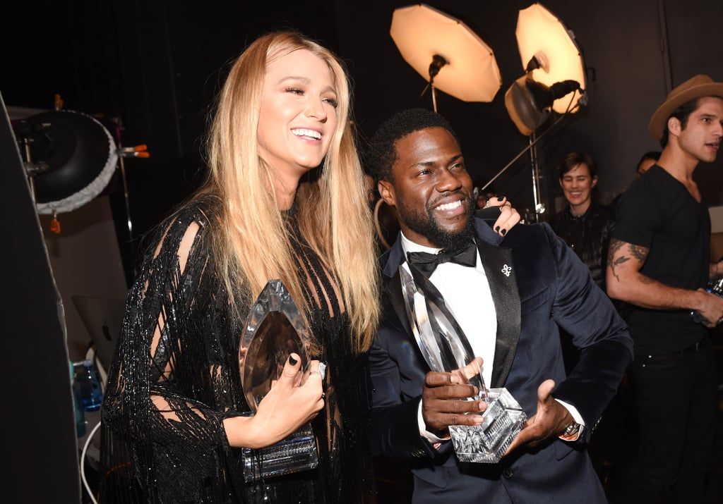 It was a big night for Blake Lively at the People's Choice Awards in LA on Wednesday night. In addition to taking home the trophy for favourite dramatic actress and looking flawless on the red carpet with her older sister Robyn, wearing a sexy black minidress, Blake had the best time mingling with stars at the show. Not only did she and Kevin Hart pose with their awards backstage, but she also chatted with Justin Timberlake, Tom Hanks, and Luke Hemsworth in the audience. Things got even cuter, though, when she linked up with the girls from Fifth Harmony and snapped a fun group photo. Can we all agree that Blake had the best night at the People's Choice Awards?      Related:                                                                Announcing the 2017 People's Choice Awards Winners!                                                                   43 People's Choice Awards Moments You Didn't See