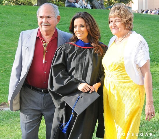 Eva Longoria's parents accompanied her to her graduation.