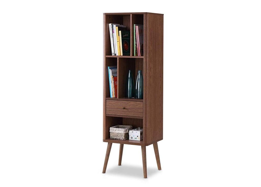 Baxton Furniture Studios Ellingham Midcentury Retro Bookcase