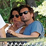 Kate Beckinsale and Len Wiseman went to the zoo.