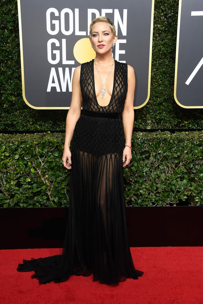 Kate Hudson Golden Globes Dress 2018 Popsugar Fashion Photo 3