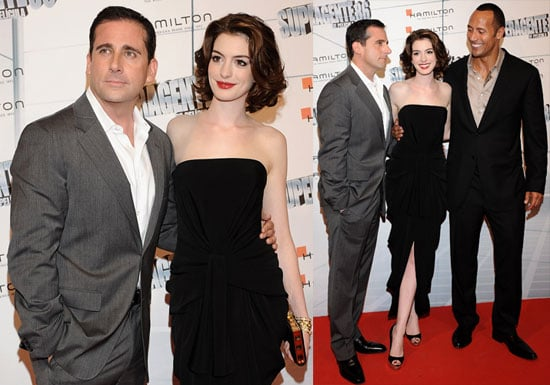 Photos of Anne Hathaway, Steve Carell and Dwayne The Rock Johnson At Madrid Get Smart Premiere