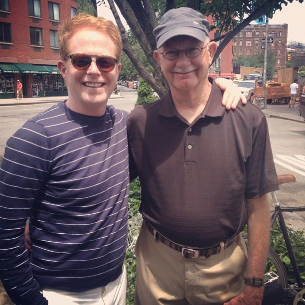 Jesse Tyler Ferguson spent the day with his dad and shared a snap on Instagram.  Source: Instagram user jessetyler