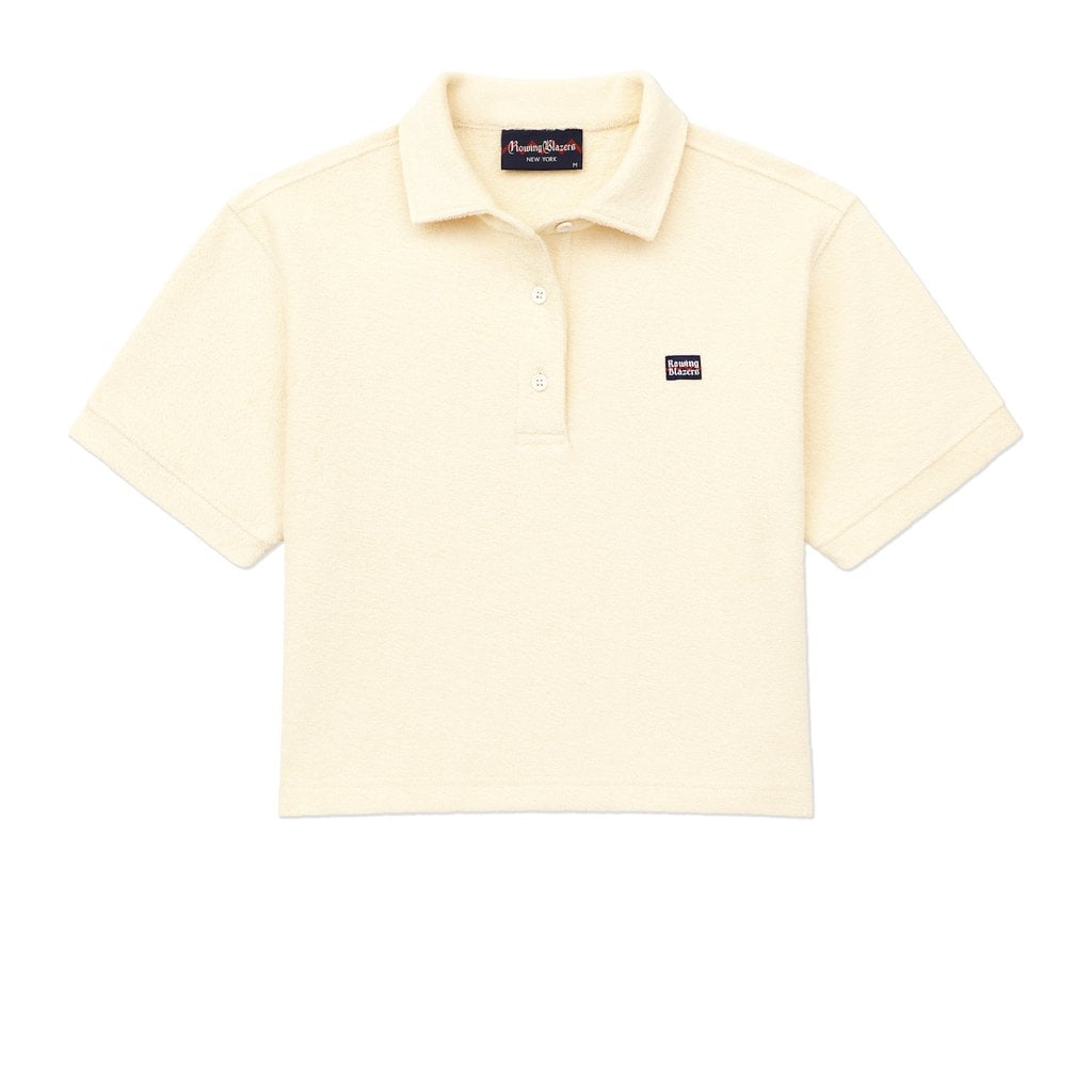 Cropped Terry Cloth Polo